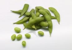Junge grüne Sojabohnen